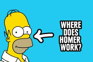 Homer smiling with a simple, blank expression on his face