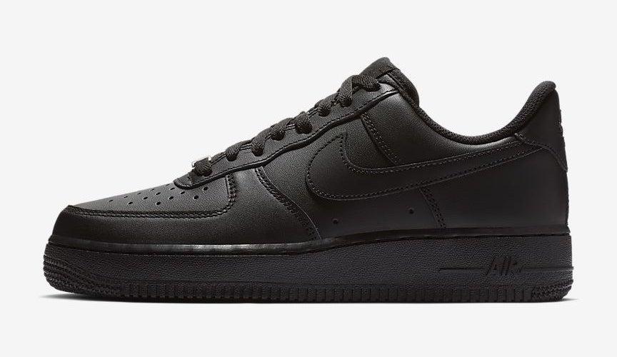 Black air force one sneakers