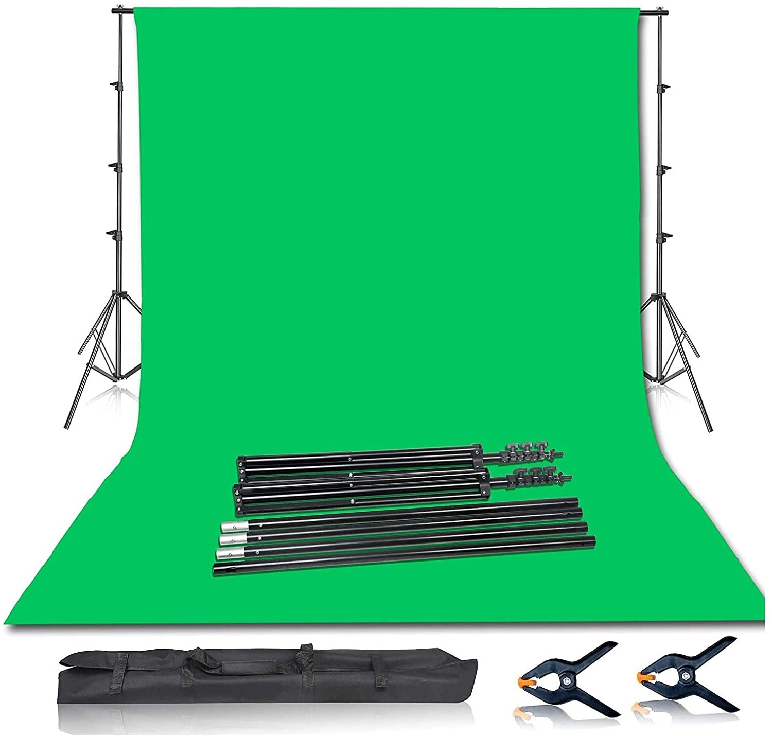 the Emart Photo Video Studio 8.5 x 10ft Green Screen Backdrop Stand Kit