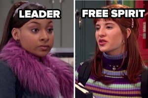 leader and free spirit labels over raven and chelsea