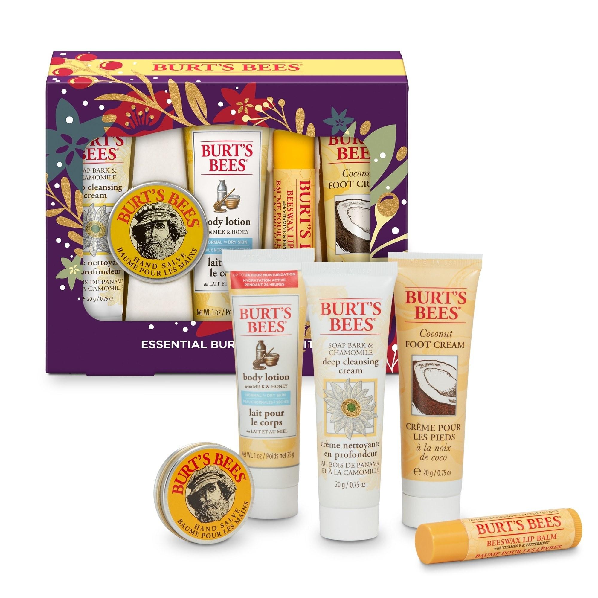 The Burt's Bees essentials kit