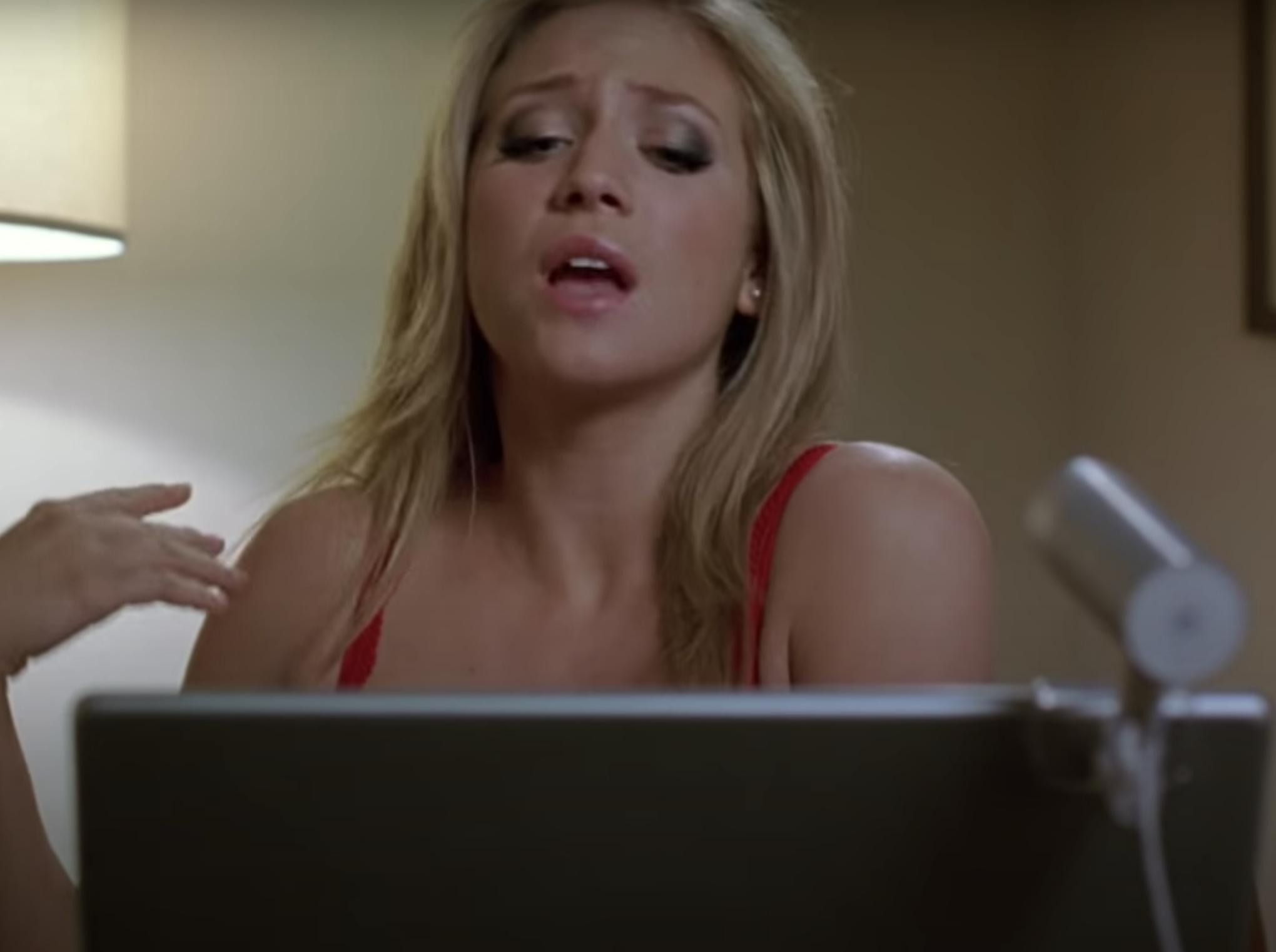 """Brittany Snow talking to John Tucker on a webcam in """"John Tucker Must Die"""""""