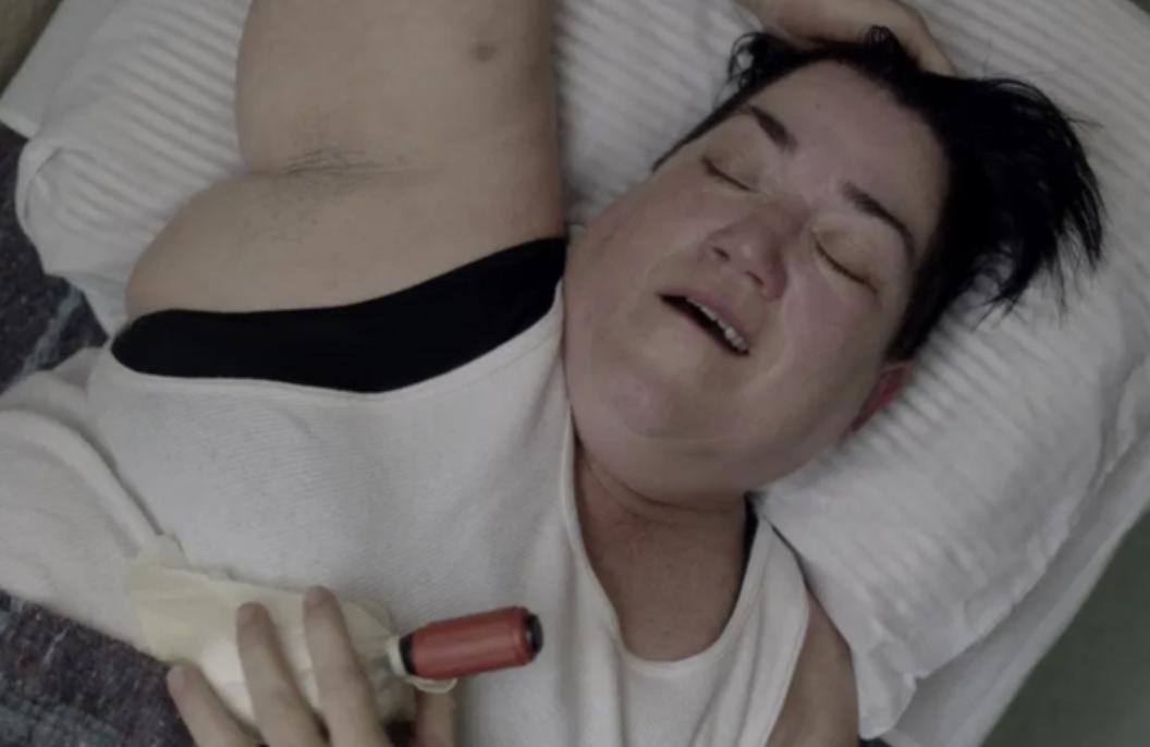 """One of the inmates from """"Orange is the New Black"""" using a DIY sex toy in bed"""