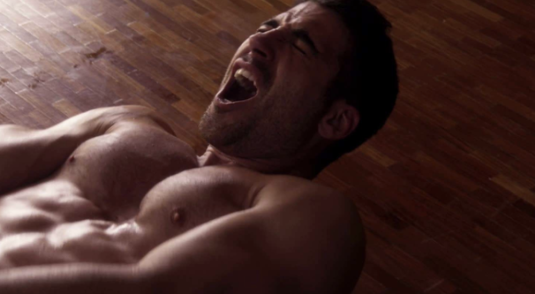 """Lito orgasming while lying on the floor in """"Sense8"""""""