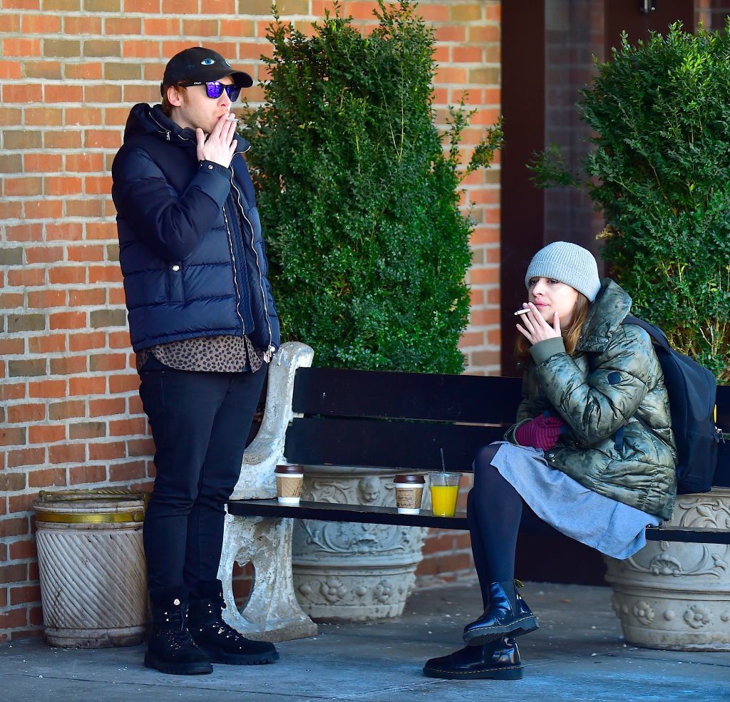 Rupert Grint, and Georgia Groome are seen in Soho on March 17, 2017