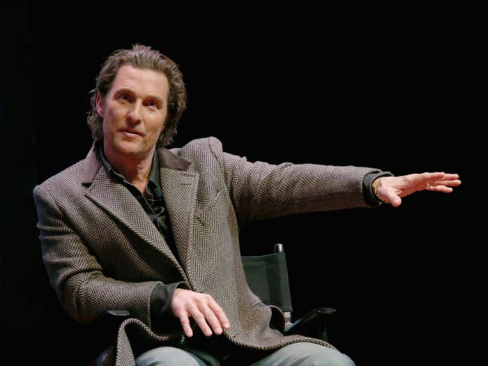 "atthew McConaughey participates in a Q&A after a special screening of his new film ""The Gentlemen"" at Hogg Memorial Auditorium at The University of Texas at Austin on January 21, 2020 in Austin, Texas."