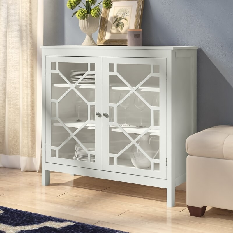 The white accent cabinet