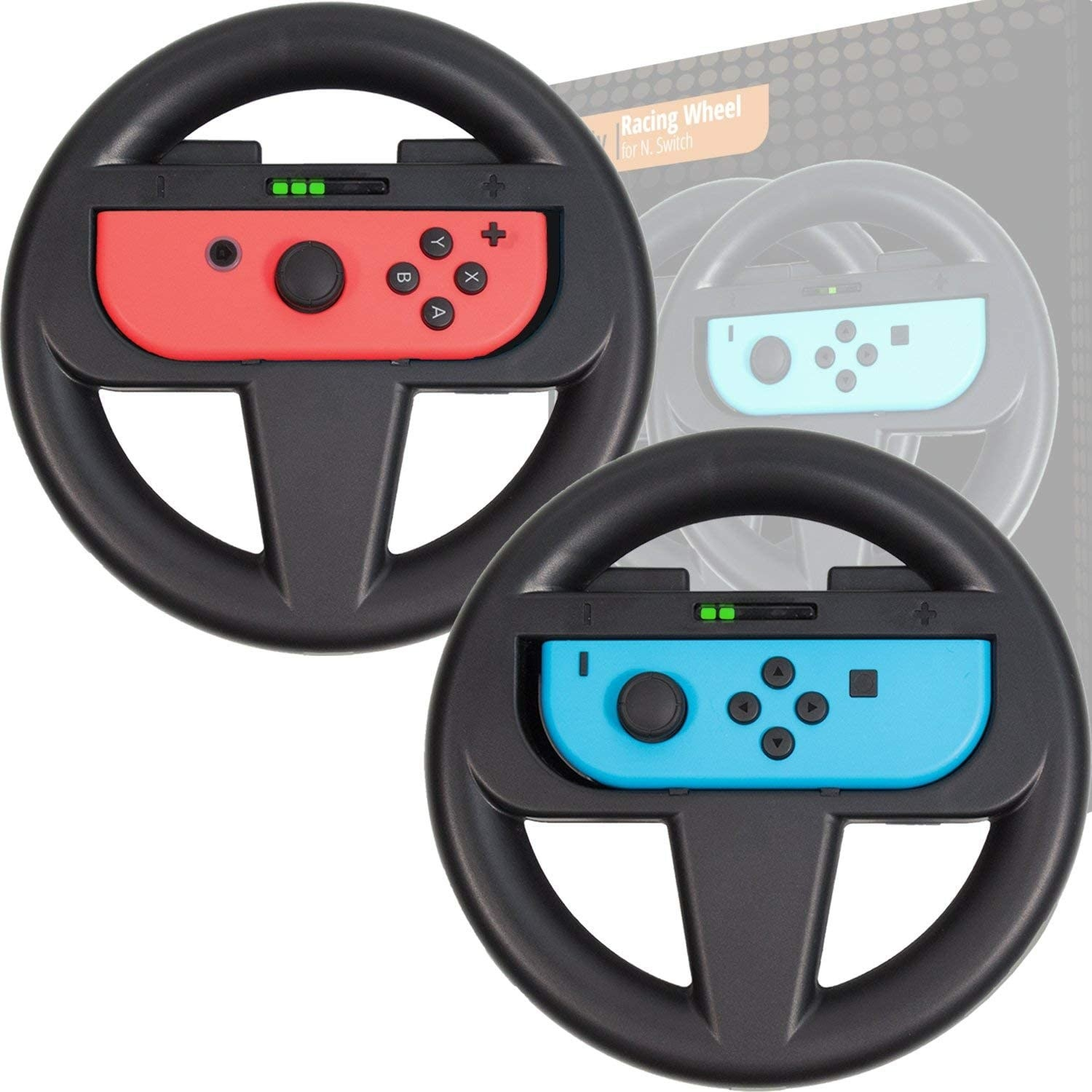 A wheel holds Joy-Con controllers