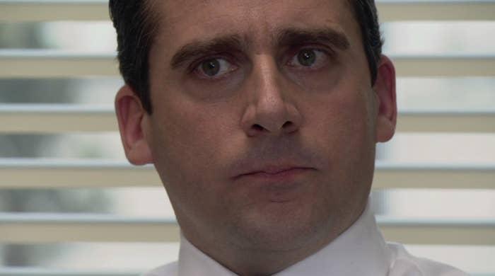 Close-up of Steve Carrell as Michael Scott