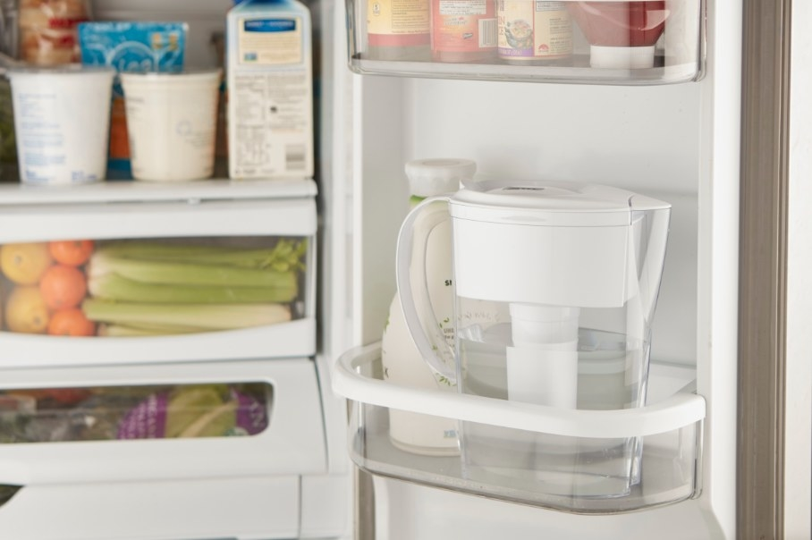 The Brita pitcher in a fridge
