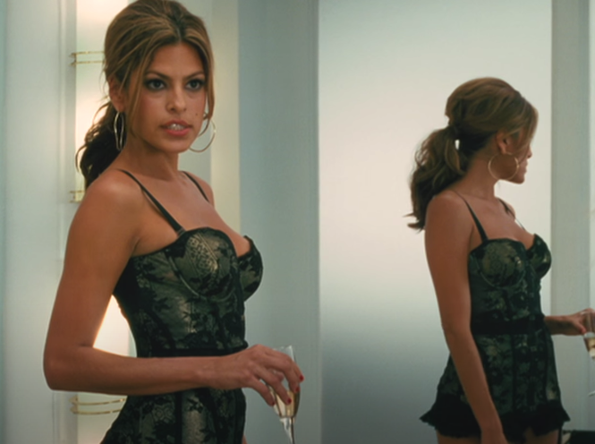 """Crystal trying on lingerie in a store in """"The Women"""" (2008)"""
