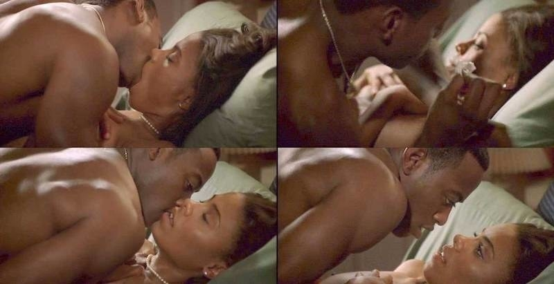 """Monica and Quincy have sex for the first time in """"Love & Basketball"""""""
