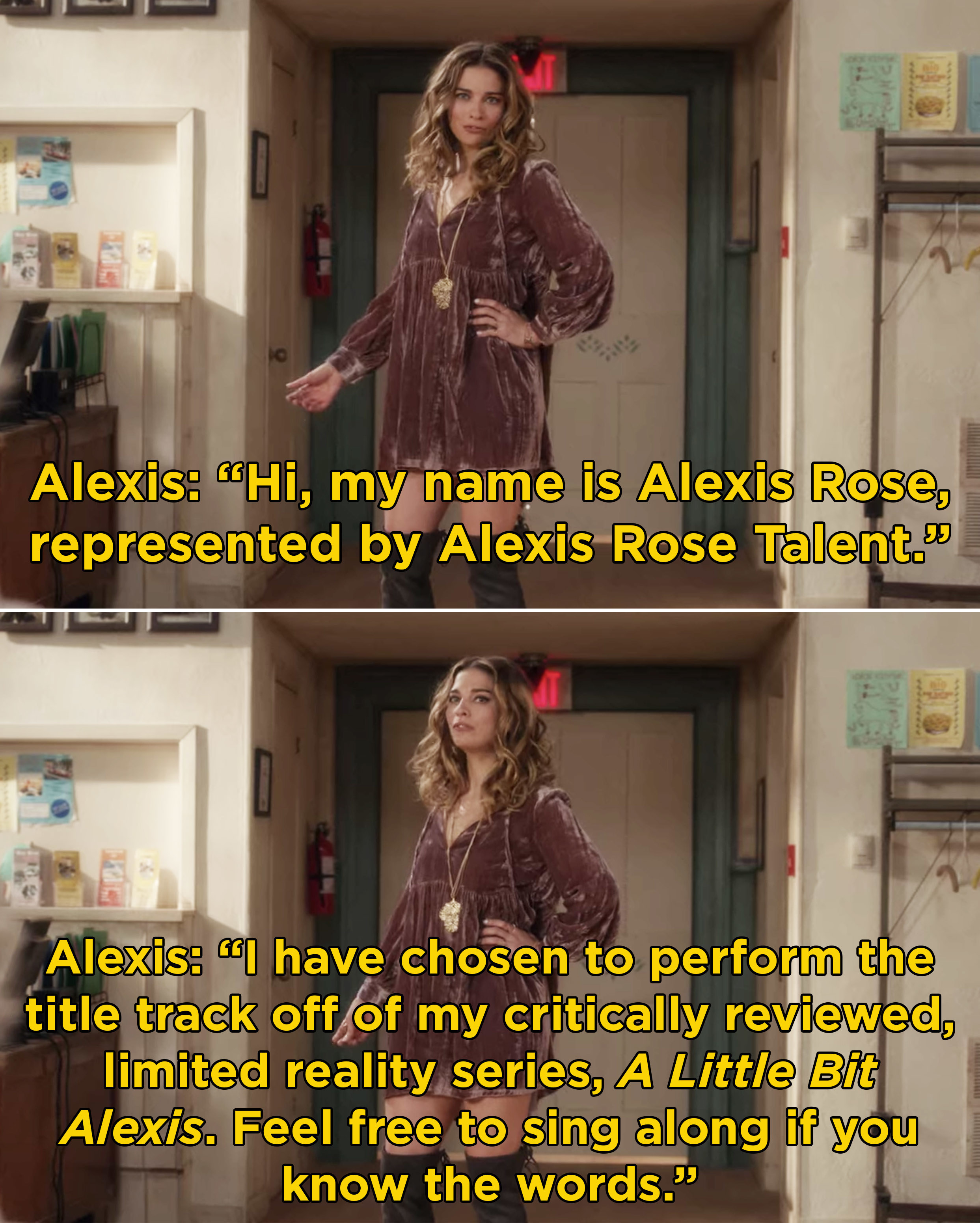 """Alexis saying that she's going to be singing the title track off of her critically reviewed, limited reality series, """"A Little Bit Alexis"""""""