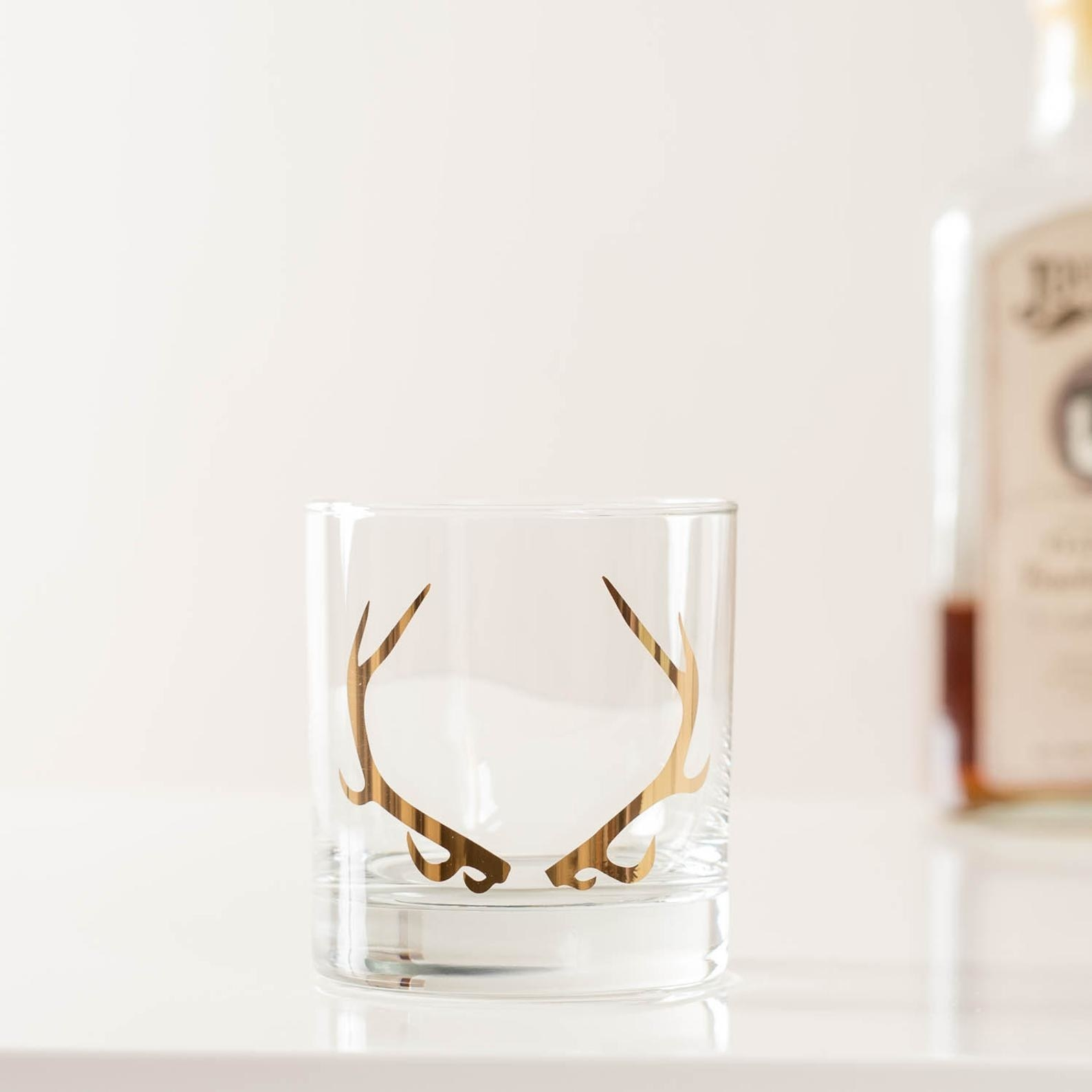 20K Gold Antler Cocktail Glass