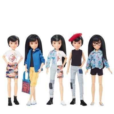 A doll in various styles
