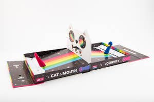 the game of cat and mouth set up and ready to play