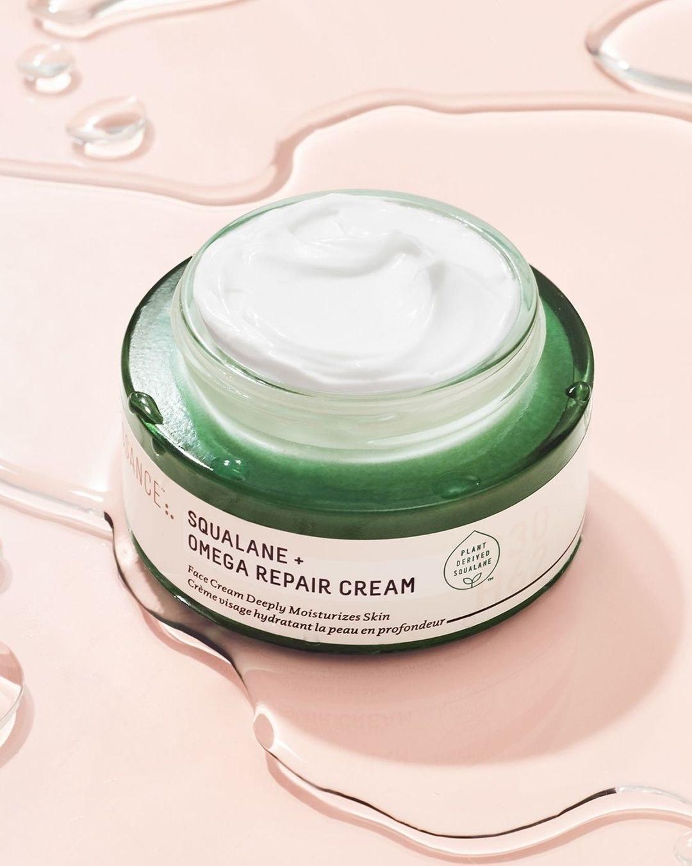 Biossance omega repair cream in a jar