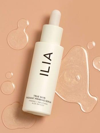 Bottle of Ilia true skin radiance primer
