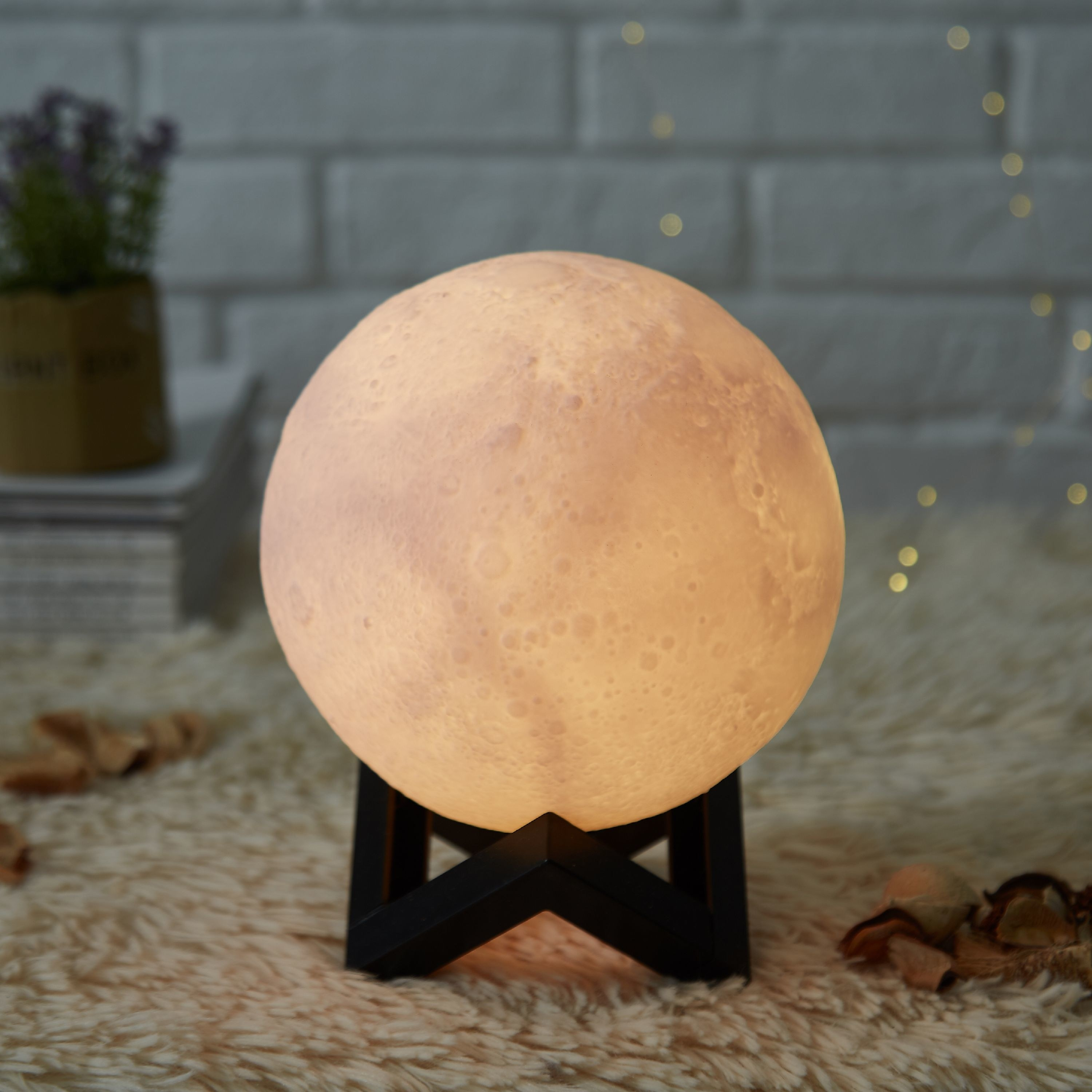 The moon lamp on a stand