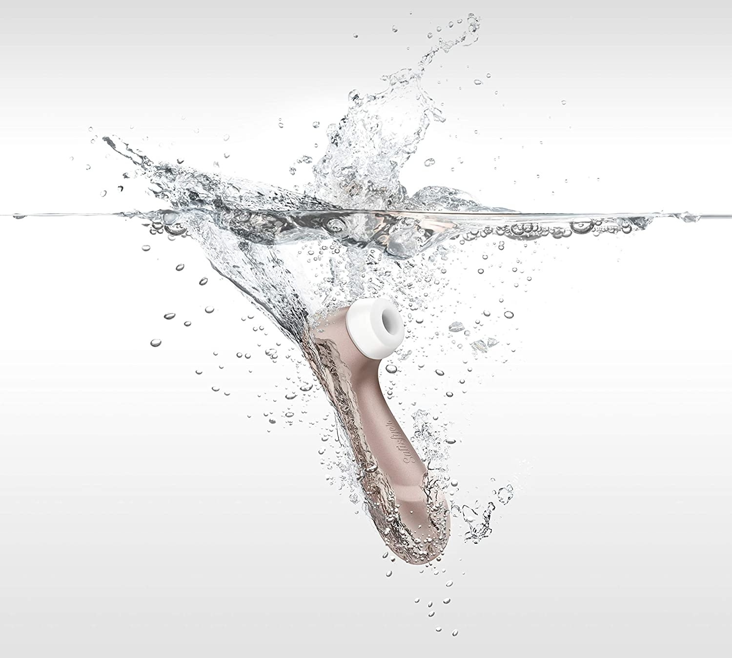 the satisfyer pro 2 being submerged in water
