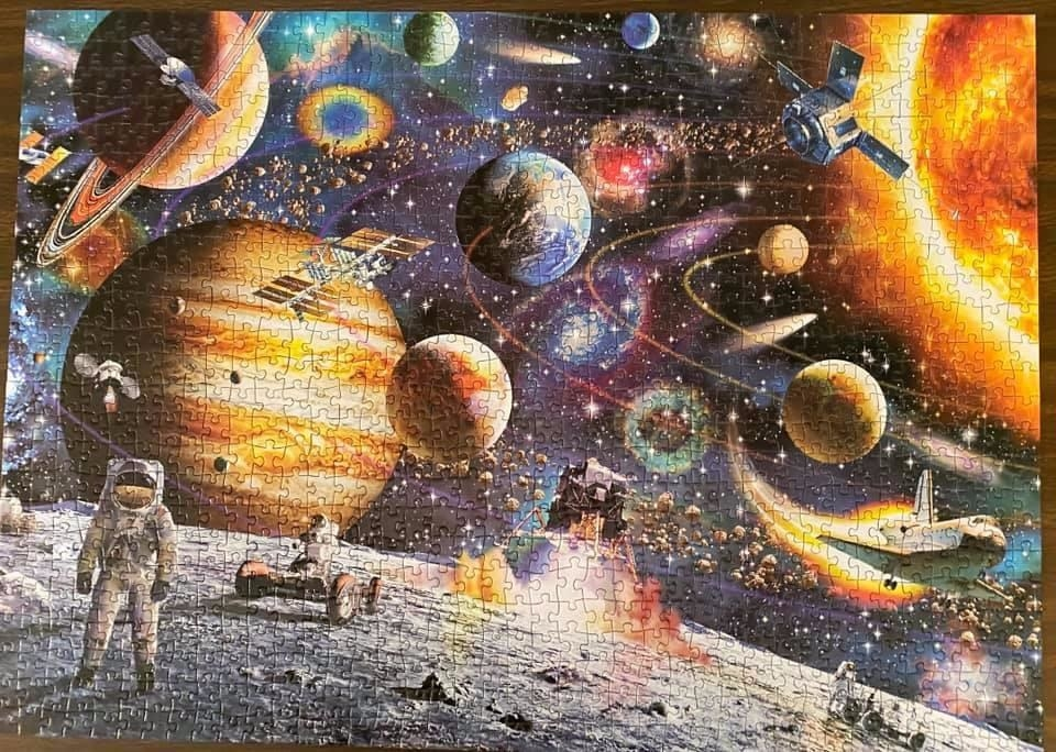 reviewer image of a completed planets in space puzzle