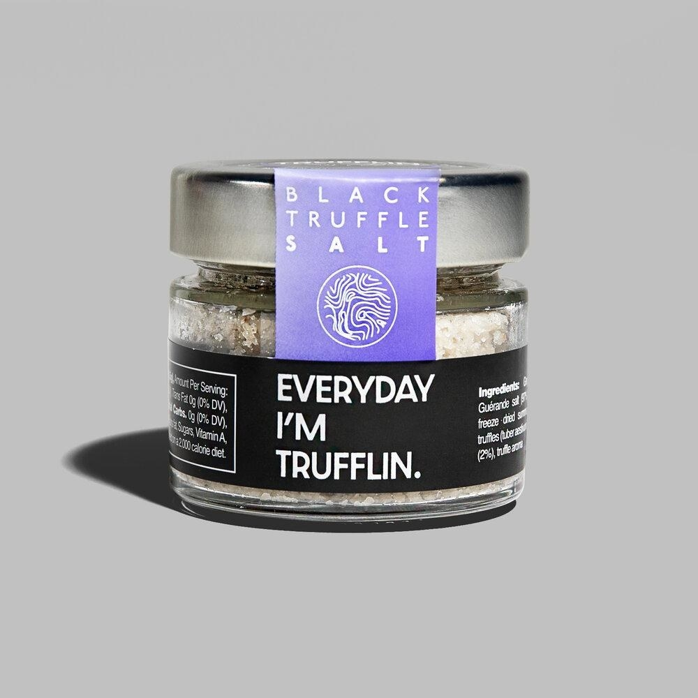 the container of truffle salt
