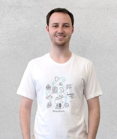 a tee with illustrated items and arrows showing a path from one subject to another