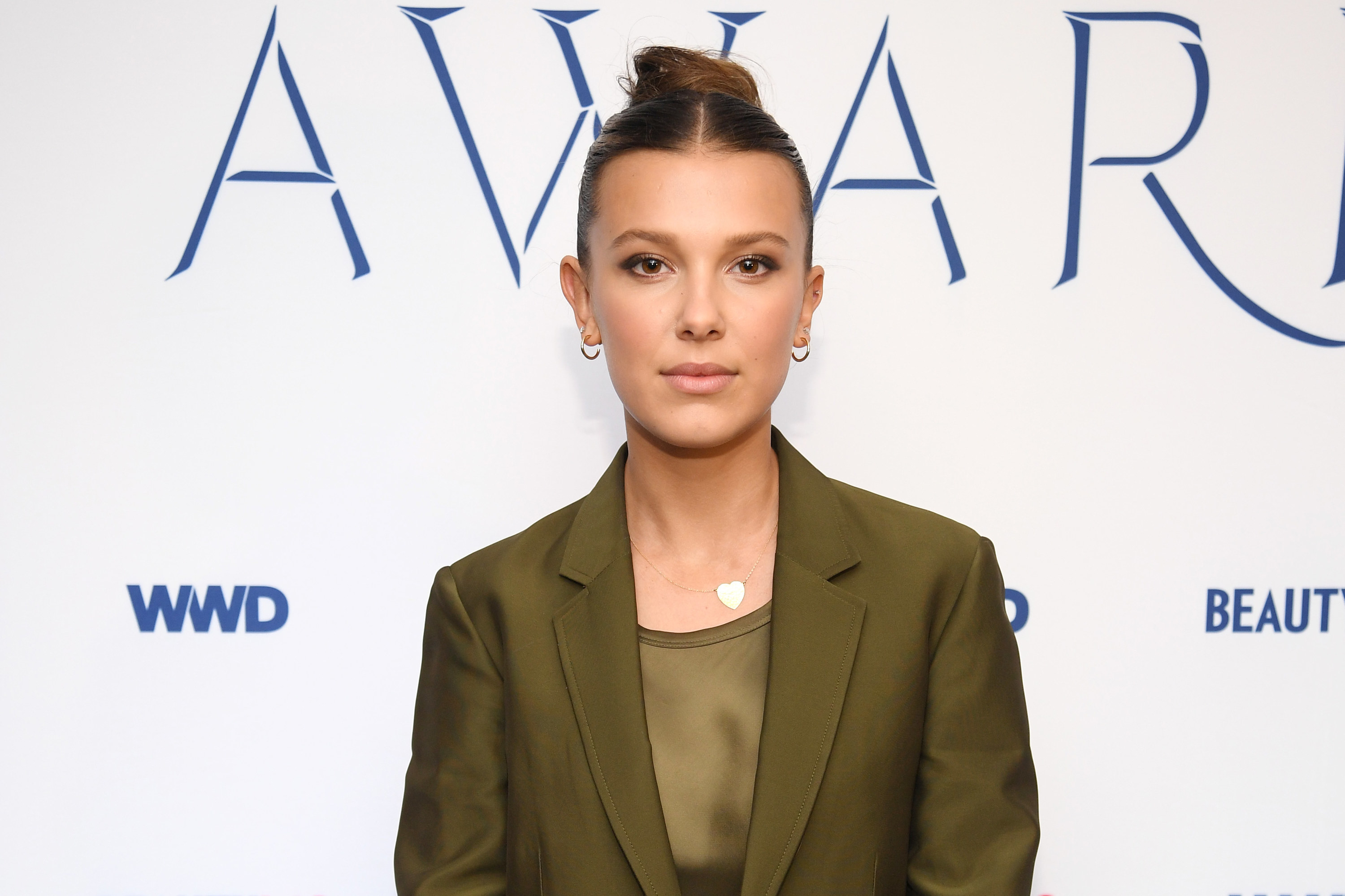 Millie Bobby Brown attends the 2019 WWD Beauty Inc Awards at The Rainbow Room on December 11, 2019, in New York City