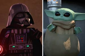 Lego Darth Vader and Lego Baby Yoda