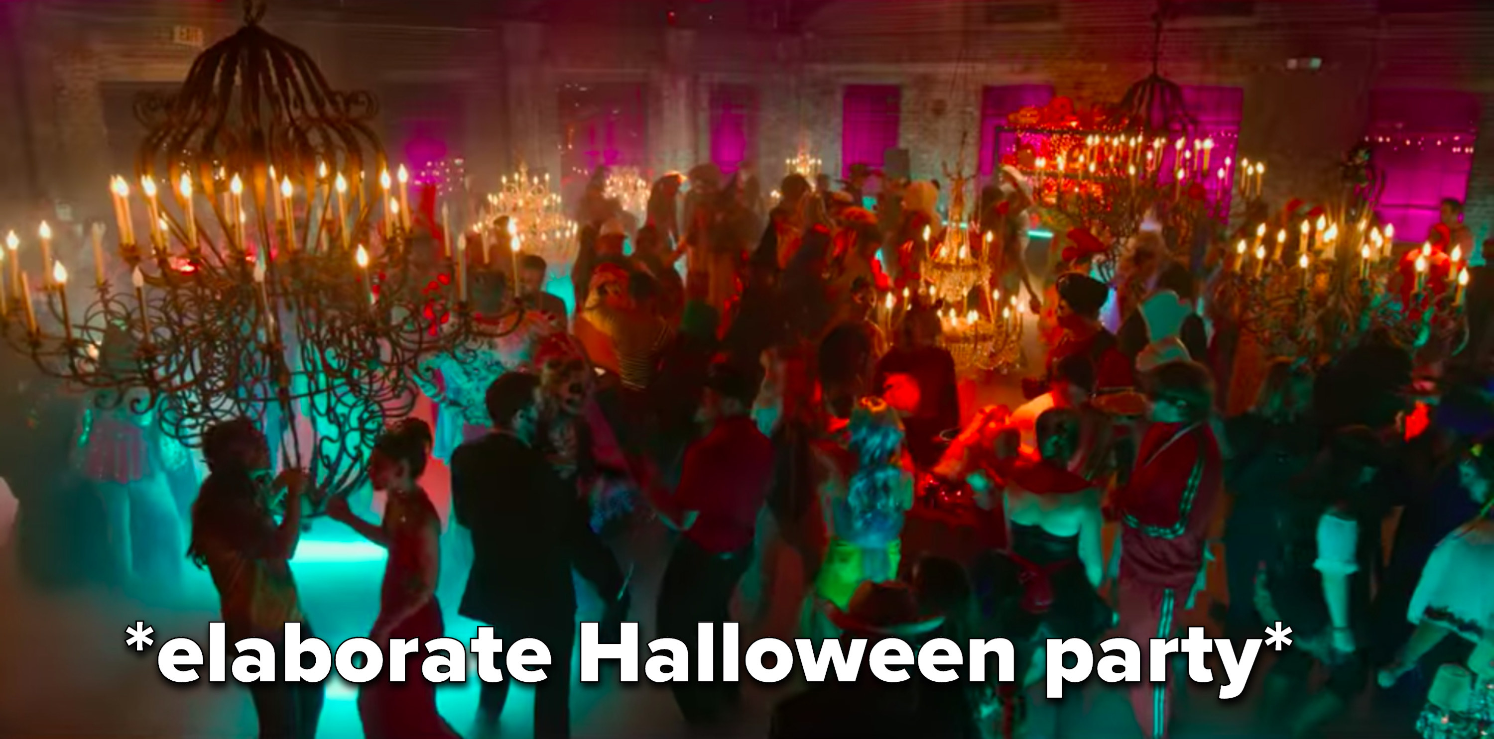 An elaborate Halloween party