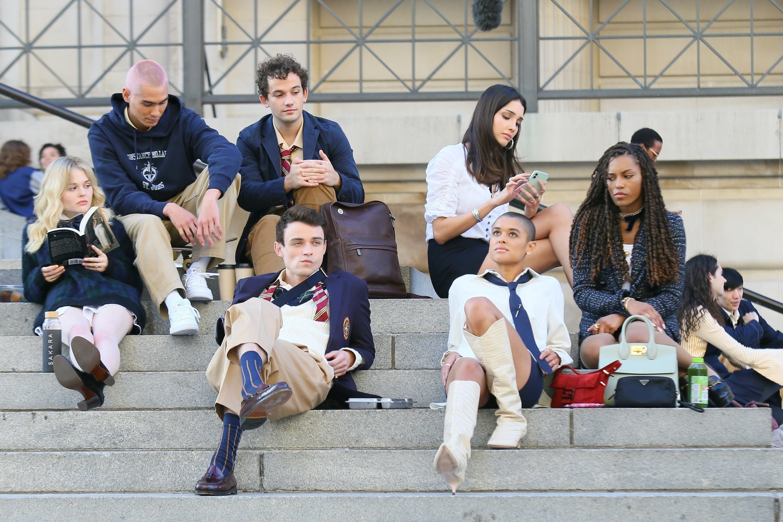 The cast of 'Gossip Girl' Reboot begins filming in Manhattan, New York.