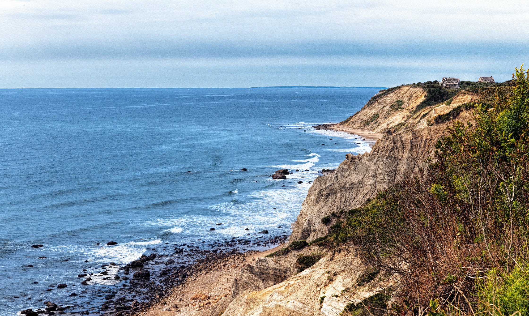 rocky cliffs by the ocean