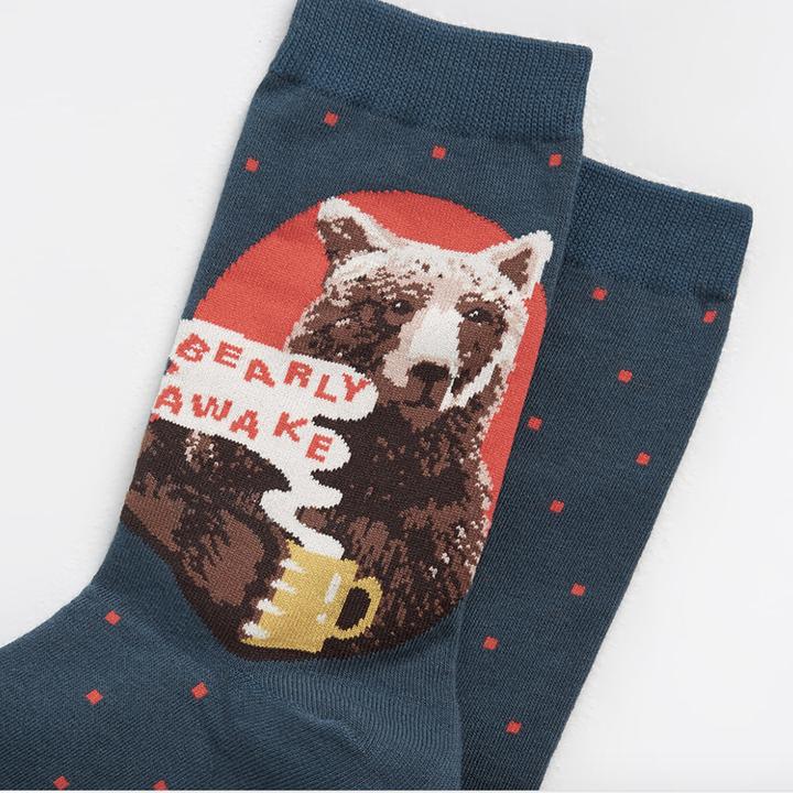 closeup of the bear art and pun