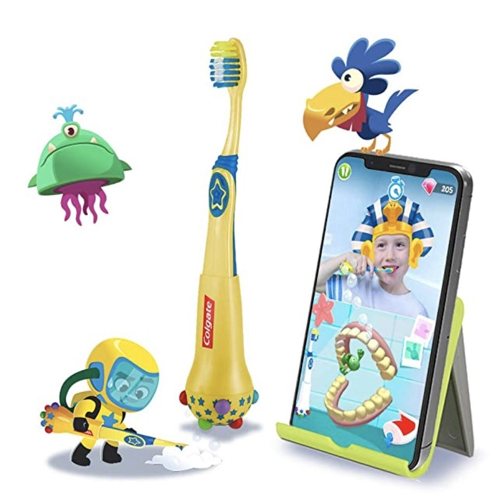 the playful yellow toothbrush