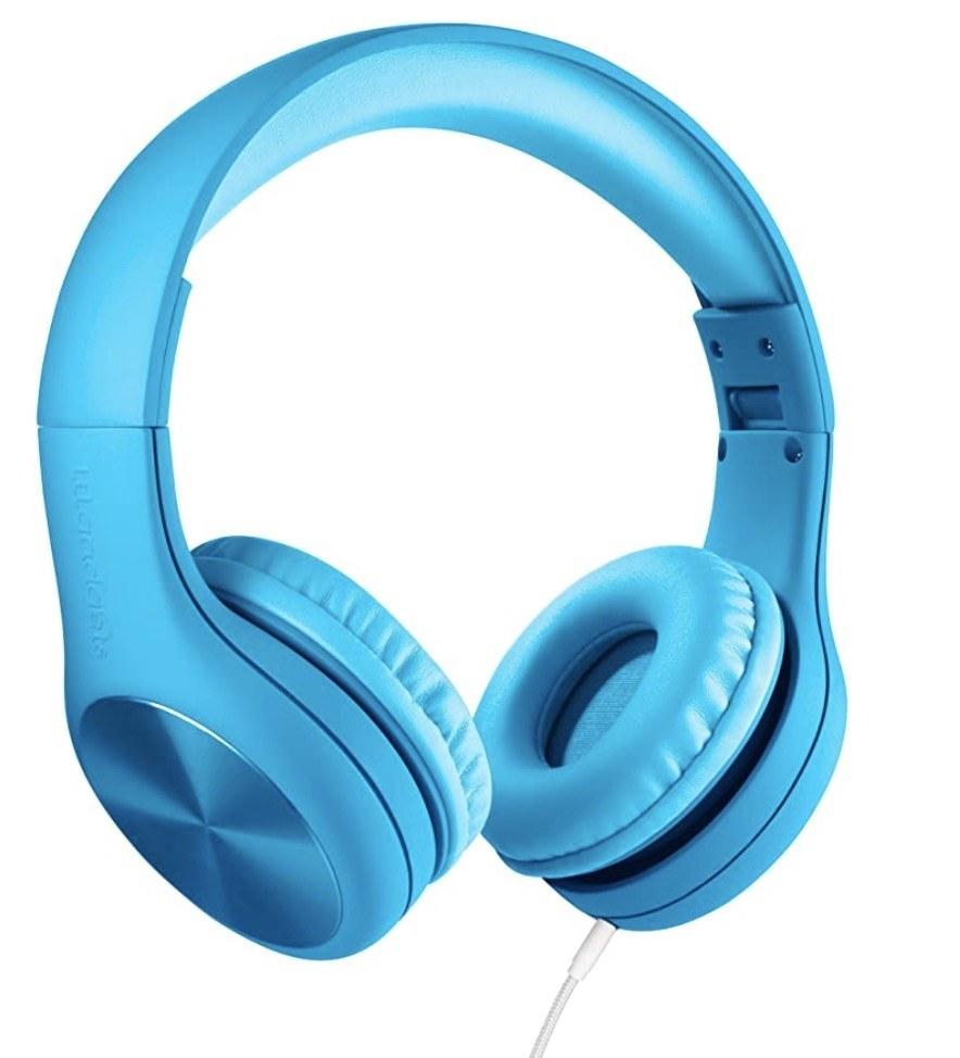blue over the ear headphones
