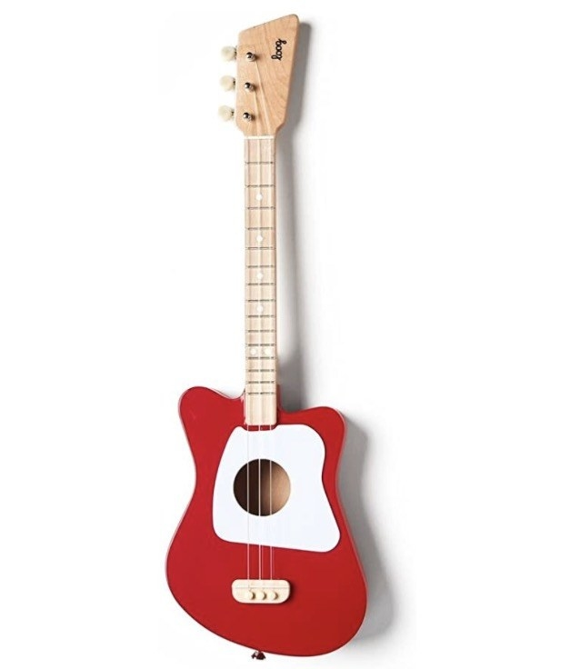 a red guitar