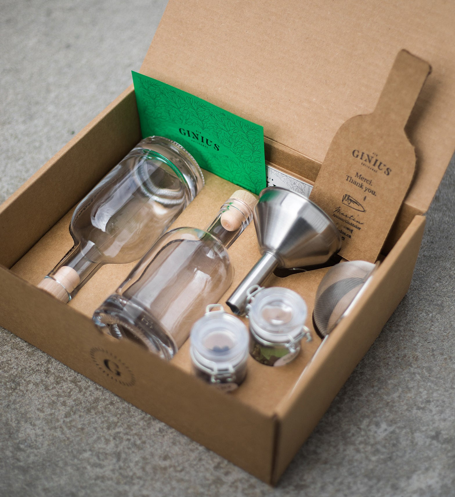 The gin kit in a box