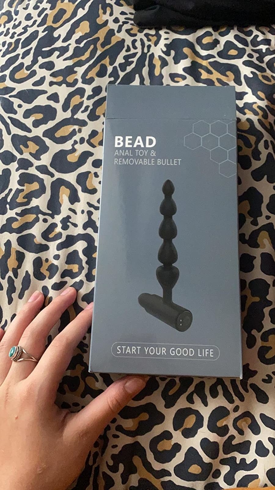 reviewer image of the anal beads butt plug