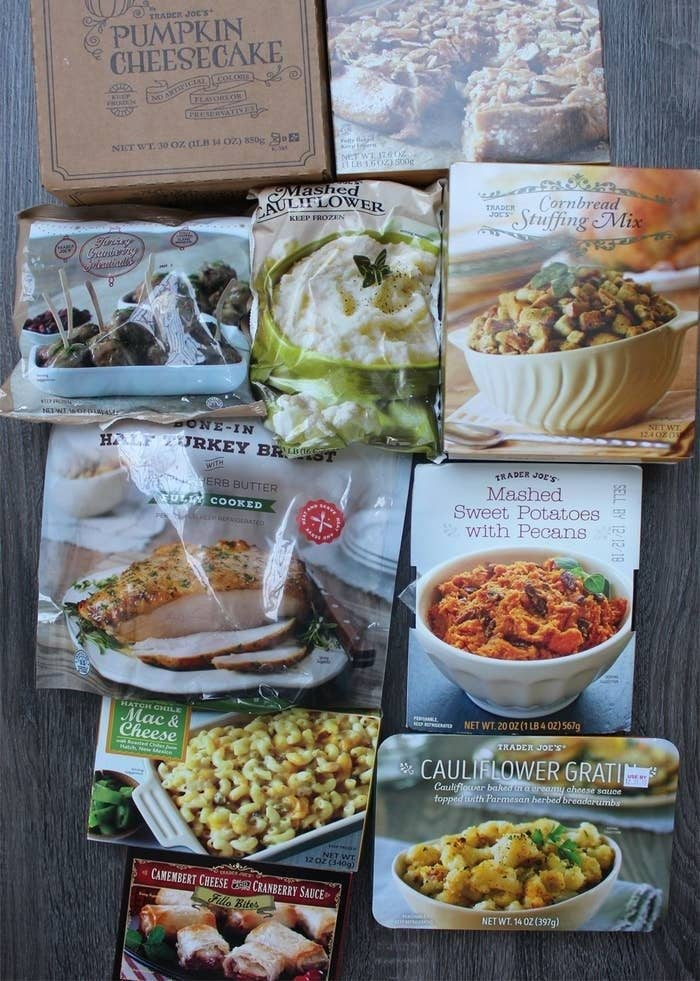 A handful of Trader Joe's Thanksgiving items.