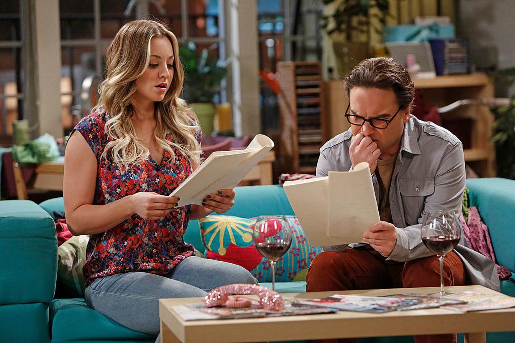 Penny and Leonard read a script