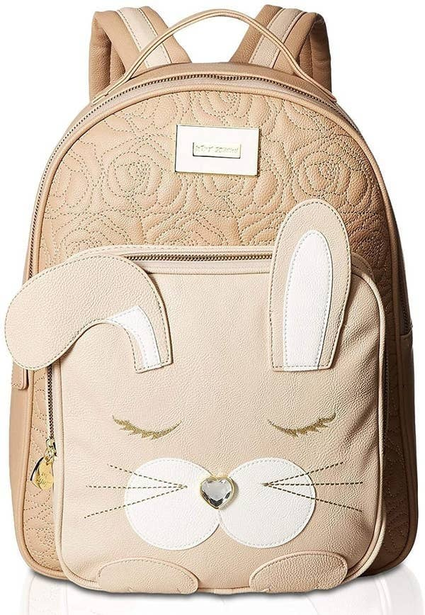 The backpack in the taupe color