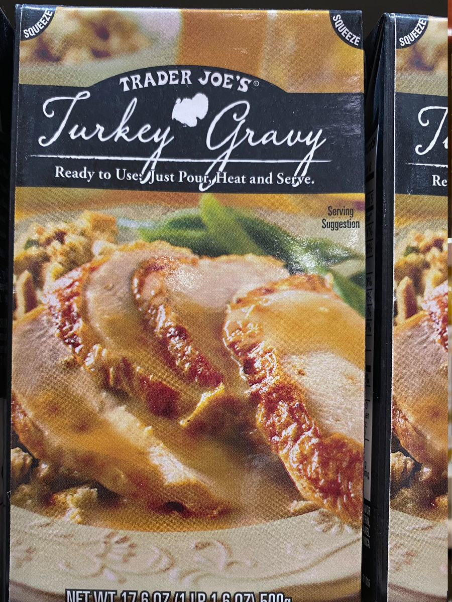 Boxes of turkey gravy.