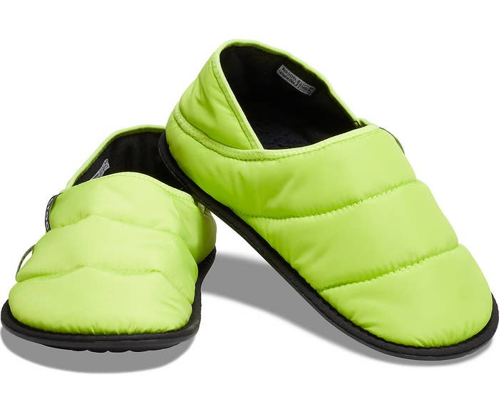 the lime punch neo puff lined slippers