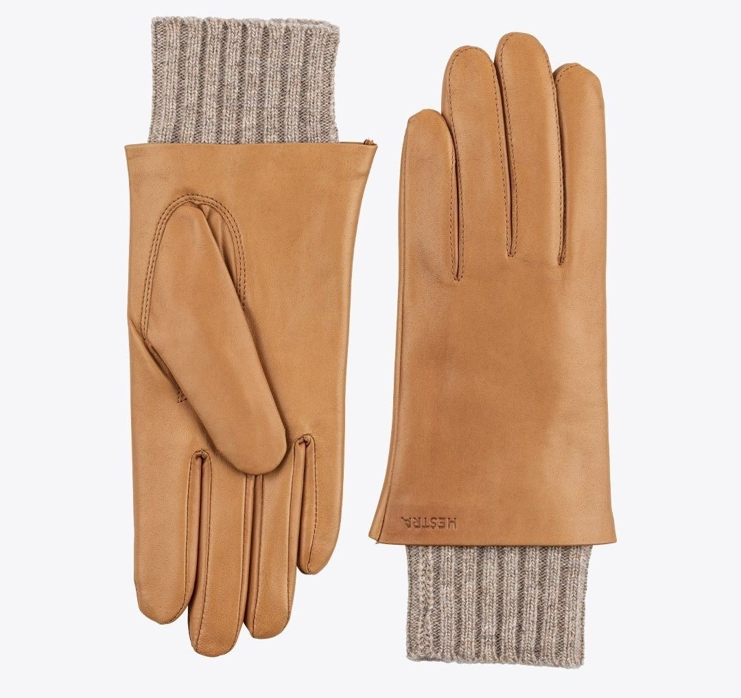 The tan gloves