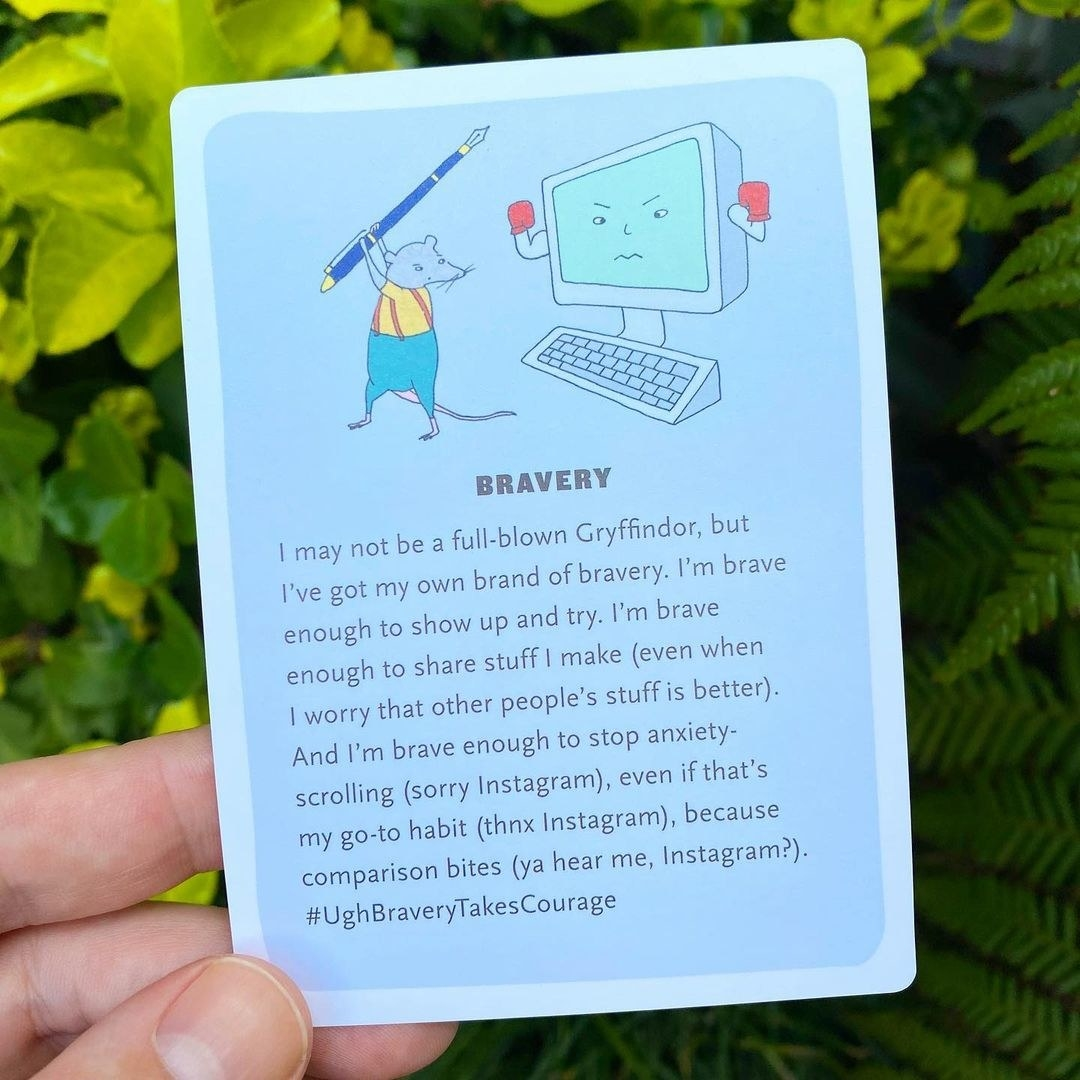 A bravery card from the deck