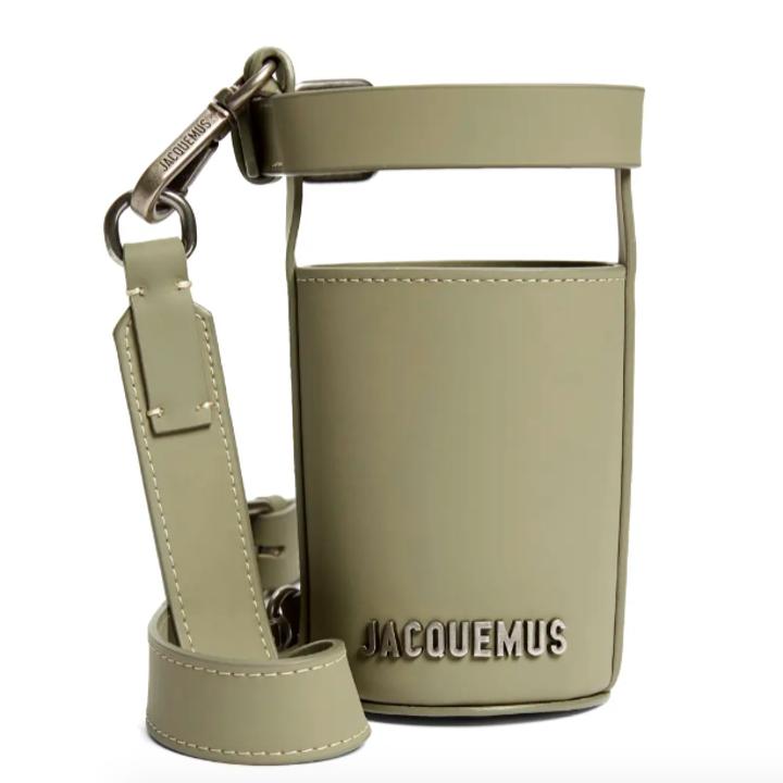 The Jacquemus Le Porte Gourde holder.