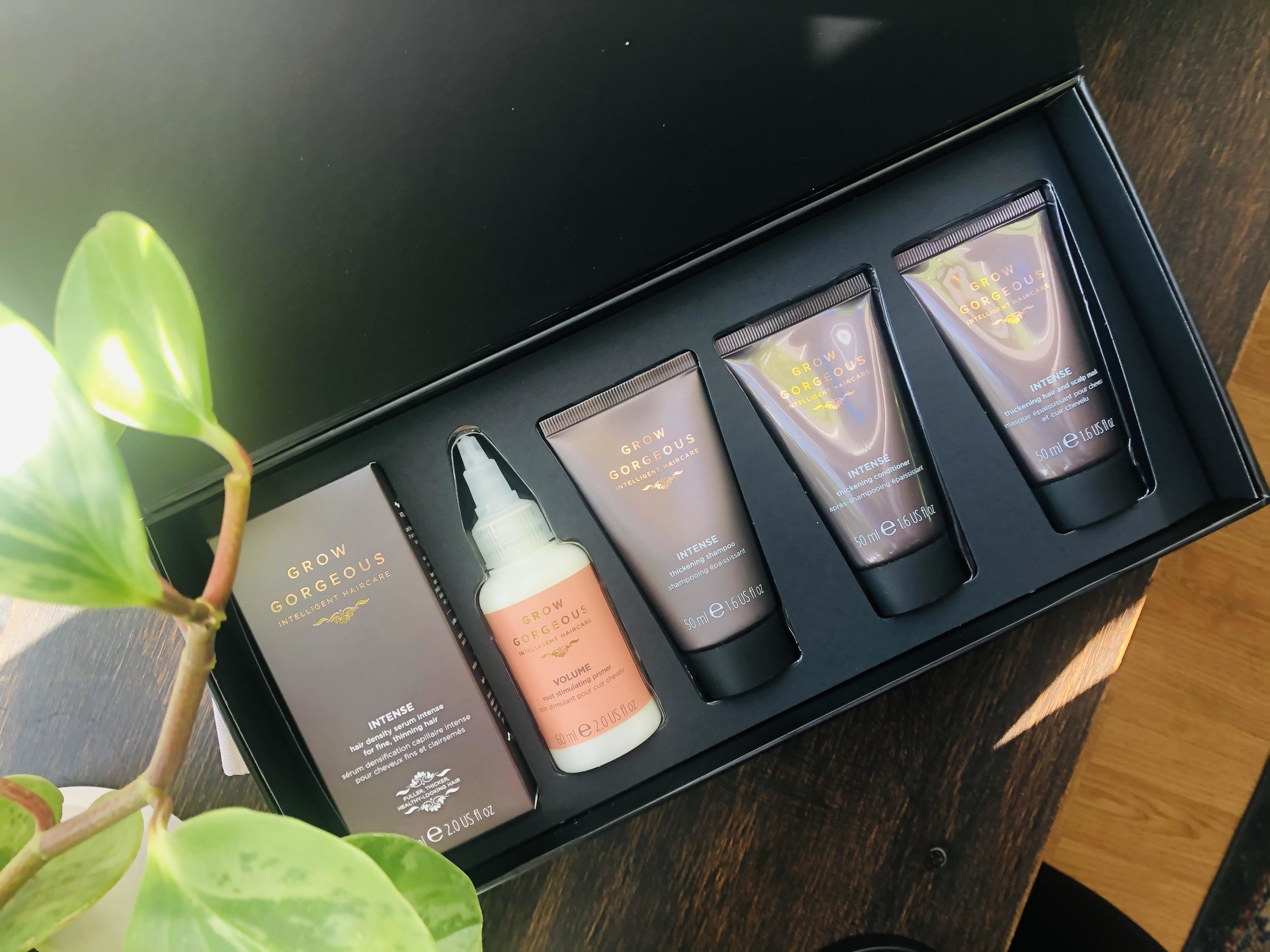 The box of hair products