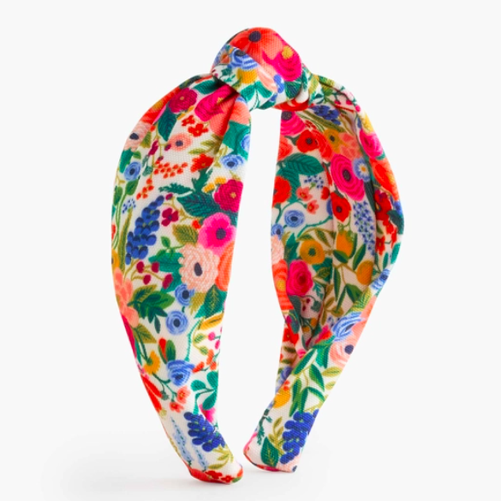The headband in the garden party print.