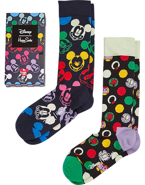 rainbow colored mickey socks