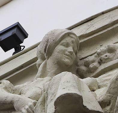 Closeup of smiling woman